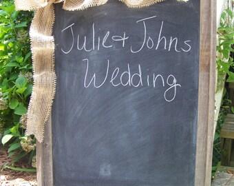 "Rustic Wedding Wooden Large Chalkboard 18"" x 24"""