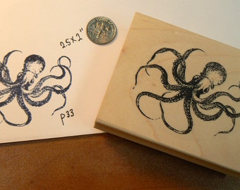 P26  Large Octopus rubber stamp