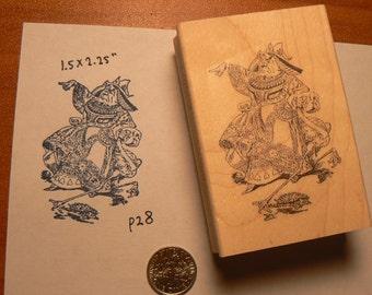 Alice in Wonderland the Queen Rubber Stamp WM P28