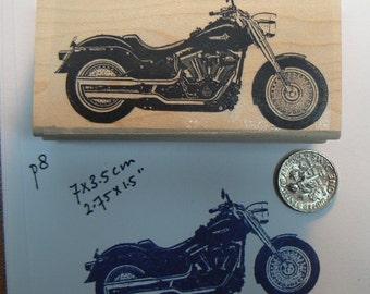 Harley line art rubber stamp  P8