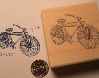 Vintage bicycle rubber stamp WM P37