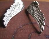 Large Silver Wings Earrings