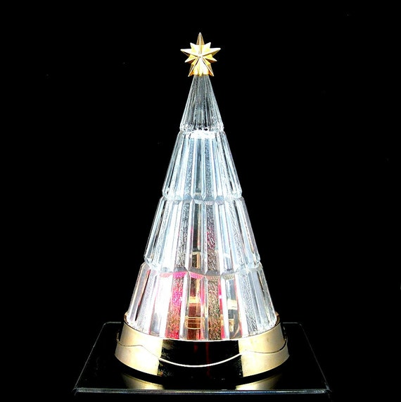 Avon crystal christmas tree percent lead colored
