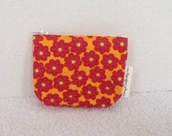 Mini Zippered Pouch-Mayberry Petals (Mini 130)