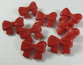 Red Ribbon Novelty Buttons