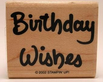 Stampin' Up- Birthday Wishes stamp- NEW