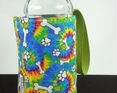 Whats Up Your Sleeve Insulated Reversible Water Sleeve Tie Dye Puppy