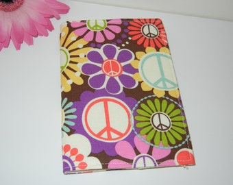 CLEARANCE Fabric Passport Cover in Peace Floral RTS