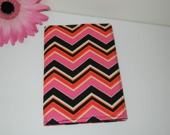 CLEARANCE Fabric Passport Cover in Zig Zag Flame RTS