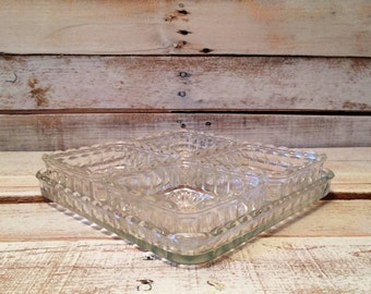 Vintage Clear Glass Scalloped Entertaining Dishes