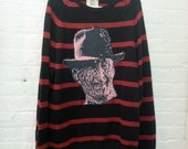 Freddy Krueger on Striped Levis Sweater