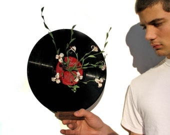 Let's Hear It Once More For The Record - Romantic Music Sheet Origami Flower Sculpture by PaperDisciple and Tanja Sova