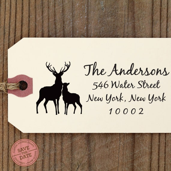 CUSTOM ADDRESS STAMP for Christmas card, Holiday Greeting, Self Inking Stamp. Return Address Stamp, Wedding Stamp, Gift for Holiday 2