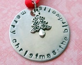 Hand Stamped Personalized Family Christmas Ornament