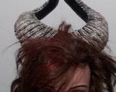 Dark Natural Horns Ram Horns Demon Horns Festival