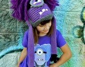 Custom Crochet Evil Purple Minion Hat