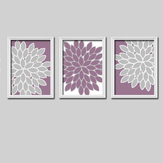 Bedroom Wall Art Grey: Lavender Gray Wall Art Bedroom Wall Art CANVAS Or By TRMdesign