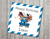 Little Blue Truck Cupcake Toppers/Favor Tags (Digital Files)