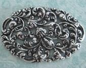 Large Ornate Silver Filigree Finding 3291