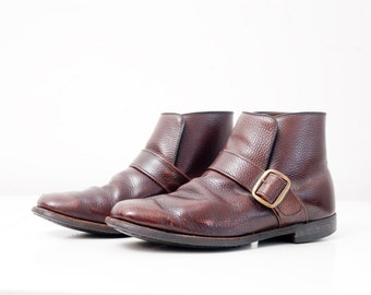 Men's Boots / Vintage Slip-On Ankle Boots // Size 8 EEE