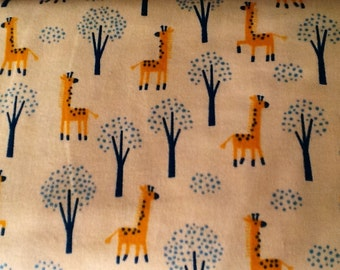Almost gone....ORANGE GIRAFFES flannel lounge pants/pajama pants children's sizes 0-3 to size 5T.