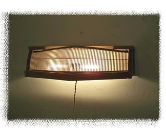 Automotive Chic,1995 Buick Skylark Grille Sconce,Repurposed,Vintage,Lighting,Industrial,Architectural