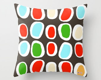 Circles Decorative throw pillow cover - Scandinavian pillow cover - Modern pillow cover