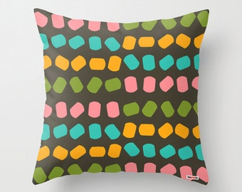 Decorative throw pillow cover - Colorful pillow cover - Cool pillow cover - designer pillow cover - Modern pillow cover