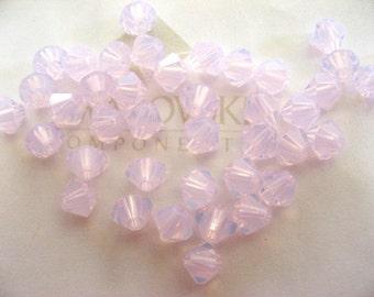48 Rose Water Opal Swarovski Crystal Beads Bicone 5328 4mm