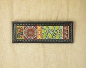 Mosaic Wall Art Vertical or Art Horizontal Art Suzani Patchwork Clay Tile Wall Art Colorful Moroccan Inspired Mosaic Romy and Clare Boho Art