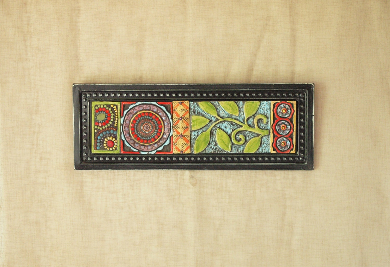 Mosaic Wall Decor mosaic wall art vertical or art horizontal art suzani