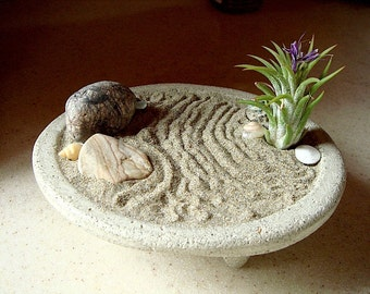 SALE! Peaceful ZEN Garden Concrete Planter and Air Plant