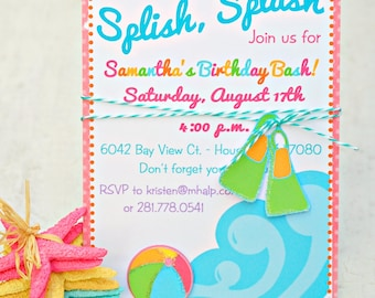 The Pool Party Collection - Custom Invitations from Mary Had a Little Party