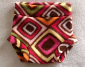 Diaper Cover --- Abstract Diamonds Fleece