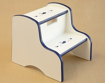 preppy whale step stool