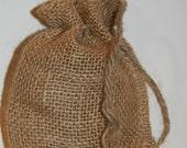 Burlap Bags, 4x6 12 Pk, Wedding Burlap Favor Bags, Rustic Wedding, Bridal Shower Favor Bags, Rustic Gift Bag