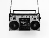 Boombox Necklace - Available in Lime Green, Hot Pink, Neon Yellow, Silver, or Gold