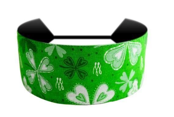 Luck of the Irish St. Patricks Day Cute Shamrock Print Headband By Bargain Headbands