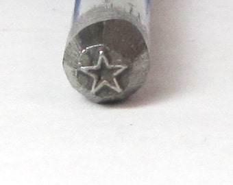 Mini Super star design stamp 3mm small you will love this little guy