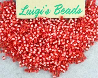 11/0 TOHO Seed Beads Silver-Lined Almond Blossom 15g