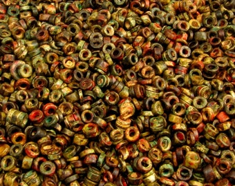 Greek Ceramic Large Seed Beads, 3-mm, Autumn Rust, 100 Pieces M270
