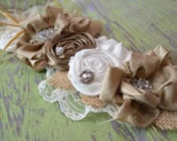 Wedding Dress Sash / Romantic Vintage Style Wedding Dress Sash / Wedding Belt / Rhinestone Dress Sash Belt Bridal Sash