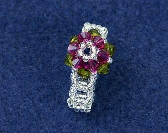 Beading Pattern: Bead Weaving Simple Flower Ring