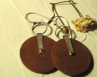 Urban Metal and Wood Earrings