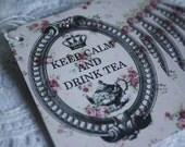 Keep Calm and Drink Tea Handmade Shabby Chic Gift Tags - Set of 6