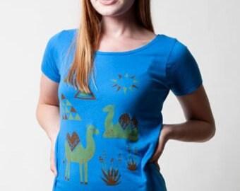SALE Ladies Organic Camel Scoop Neck