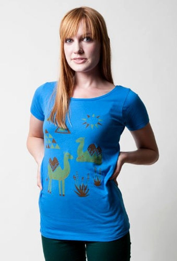 SALE Ladies Organic Camel Scoop Neck