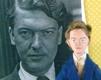 Kingsley Amis Doll Miniature Art Character Author Writer Collectible
