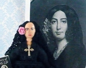 George Sand Doll Miniature Author Historical Figure Art Character