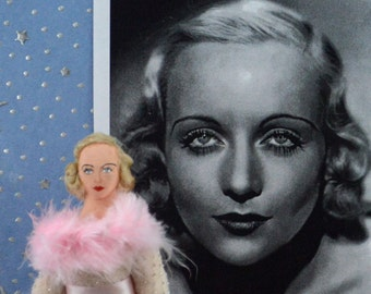 Carole Lombard Doll Miniature Hollywood Film Star Art Character